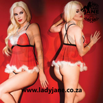 Babydoll Coquette Kissable Santa Extra Large - Red