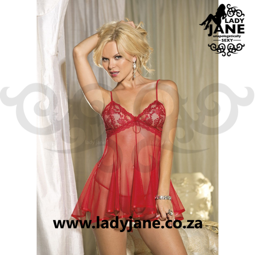 Babydoll Red Lace