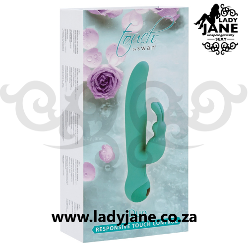 Vibrator Swan Touch Duo Teal Rabbit