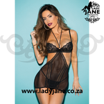 Chemise Black Stretch Lace