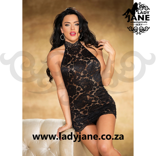 Queen Chemise Black Allover 40