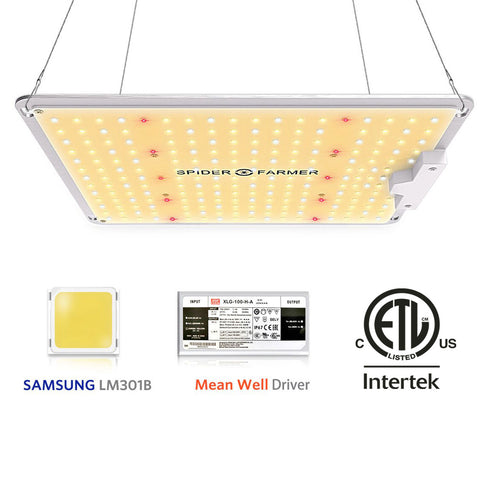 Spider farmer SF-1000 Led Grow Light Full Spectrum Samsung LM301B diodes Dimmable MeanWell Driver