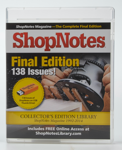 ShopNotes Back Issue Library USB Drive