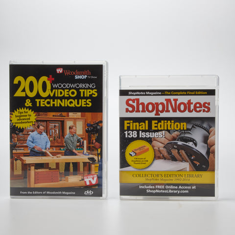 ShopNotes Collector's Edition Back Issue Library USB & 200+ Tips DVD