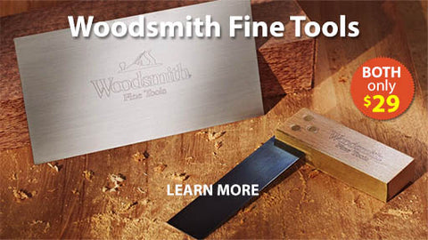 Woodsmith Fine Tools Cabinet Scraper and Try Square Combo