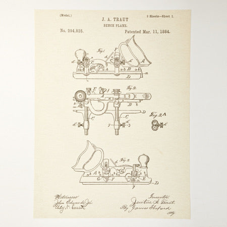 Plough Plane Patent Poster