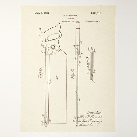 Back Saw Patent Poster