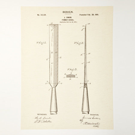 Chisel Patent Poster