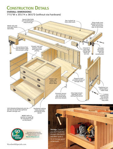 Workbenches & Simple Shop Storage Solutions