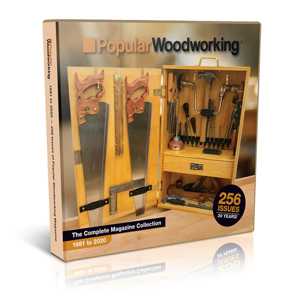 Popular Woodworking Back Issue Library (Issues 1-256) USB Drive