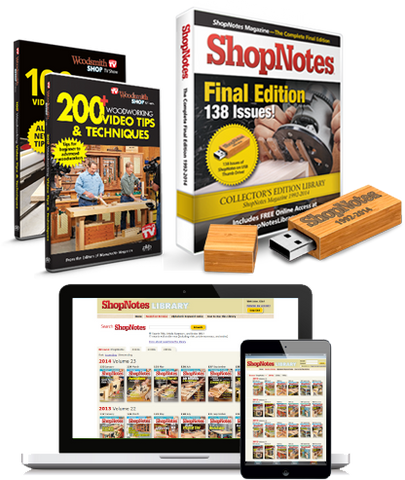 ShopNotes Woodworking 3-Pack Special