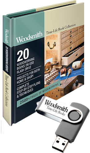 Woodsmith Time-Life Woodworking Book Collection USB Drive