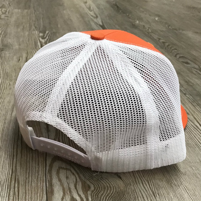 "Structured Snap Back  Block ""C"" Orange Cap"
