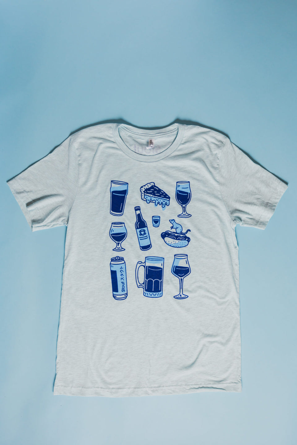 Chicago Beer T-Shirt Flat Lay