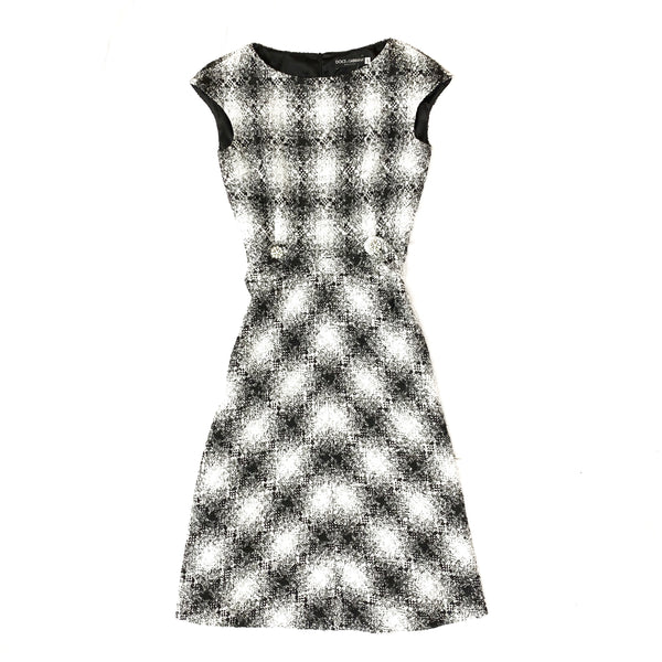 DOLCE&GABBANA tweed wool dress