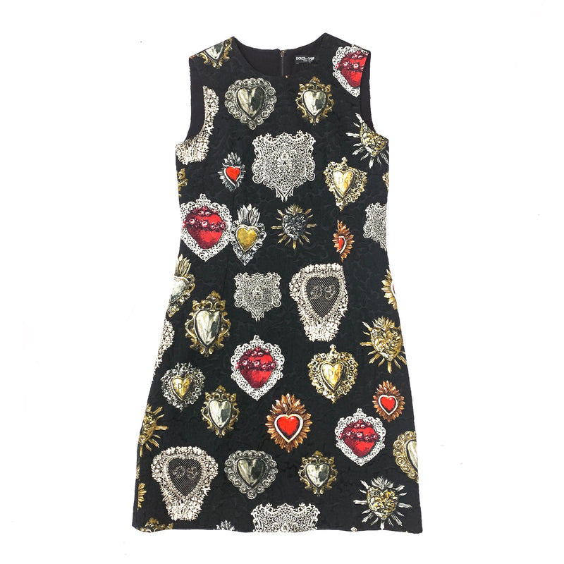 DOLCE&GABBANA jewellery print dress