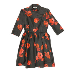 PRADA rose print chiffon dress