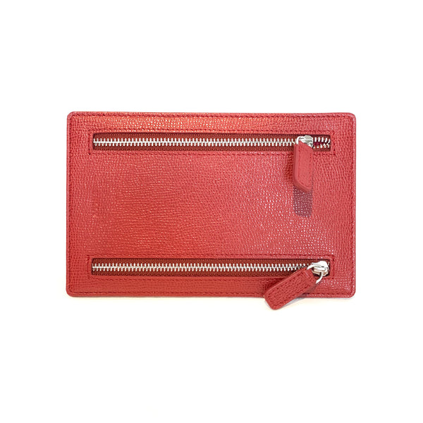Bally red leather wallet