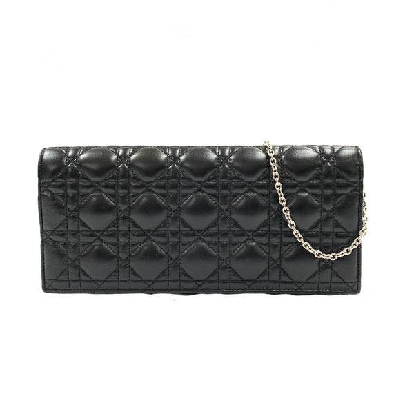 second hand used black DIOR clutch