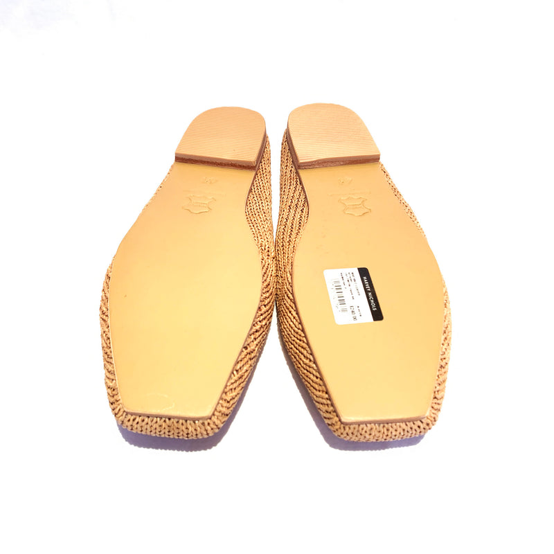 second hand pre-loved tanned leather ST.AGNI loafers