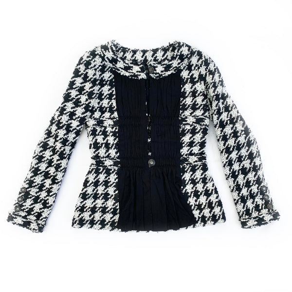 Chanel Houndstooth Jacket