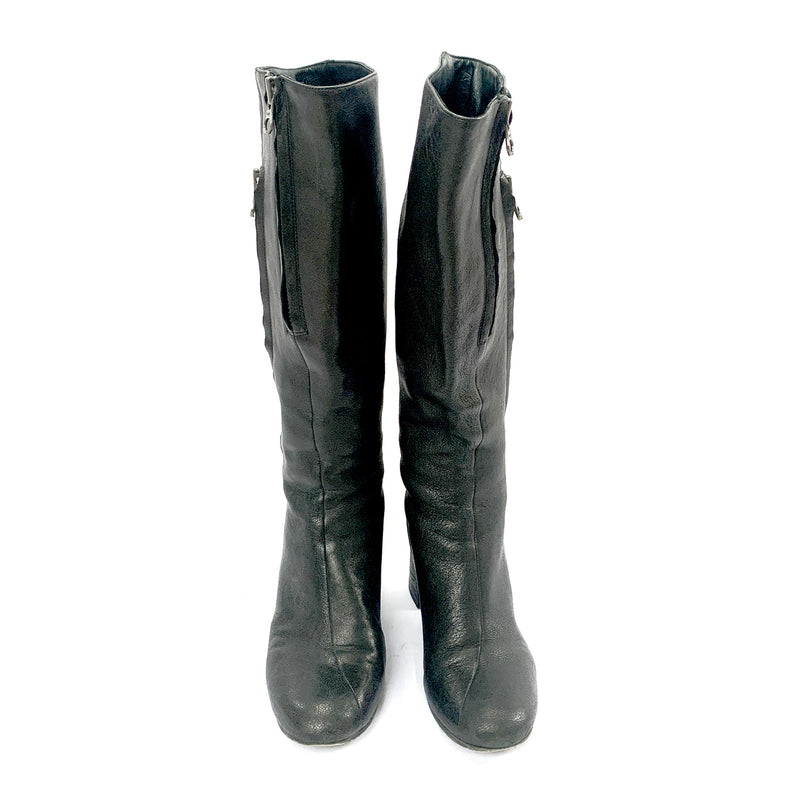 Acne black leather boots | size 38