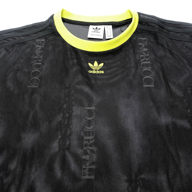 ADIDAS X FIORUCCI black mesh top | size UK8