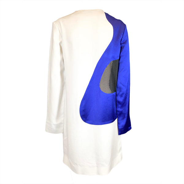 Alexander Wang white and blue silk dress