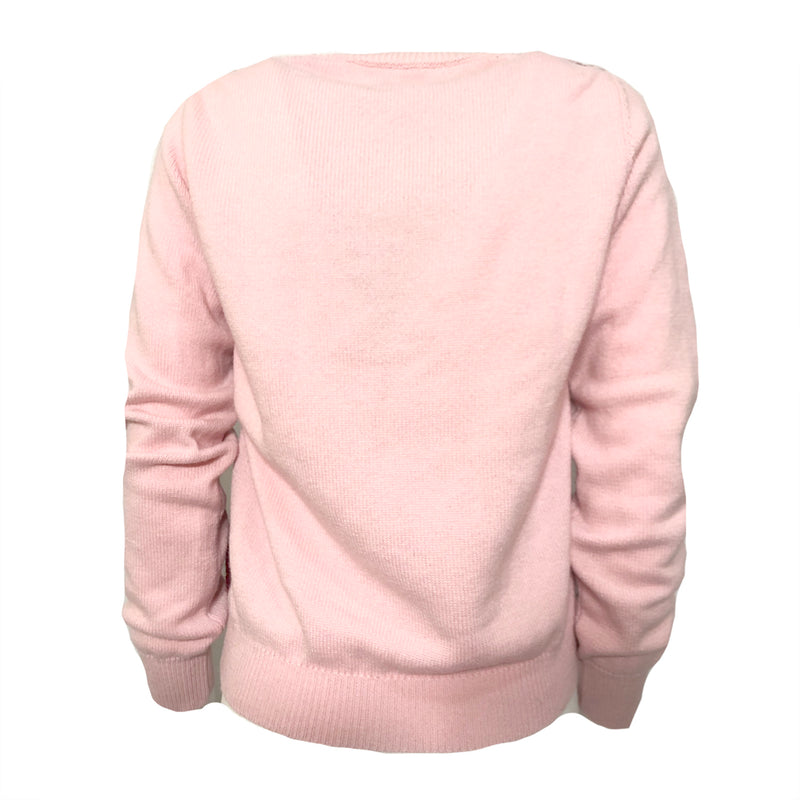 Alexander Lewis pink and burgundy cashmere jumper