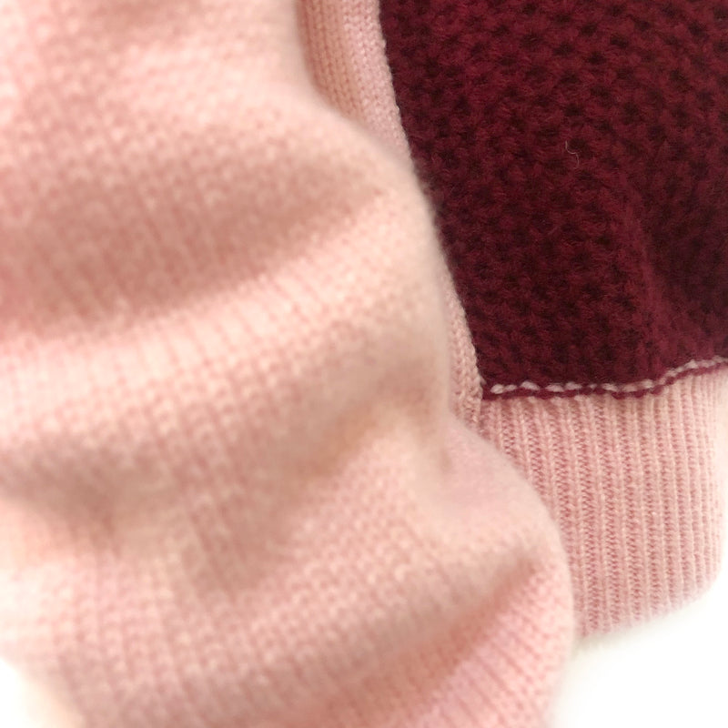 Alexander Lewis pink and burgundy cashmere jumper loop generation