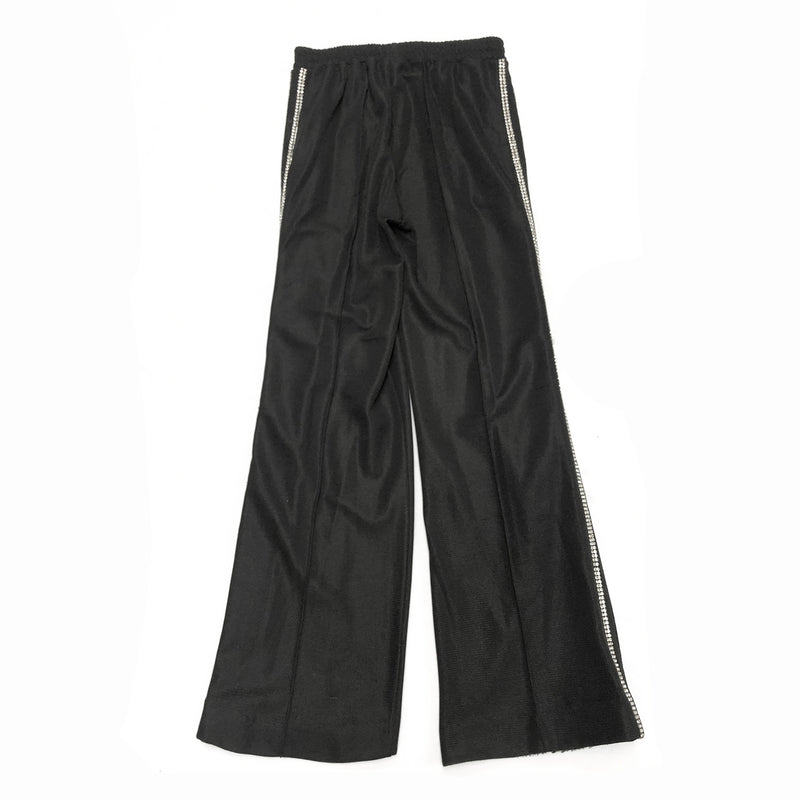 AREA black crystal-trimmed trousers | size S