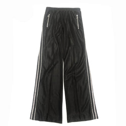 AREA black crystal-trimmed straight-leg trousers