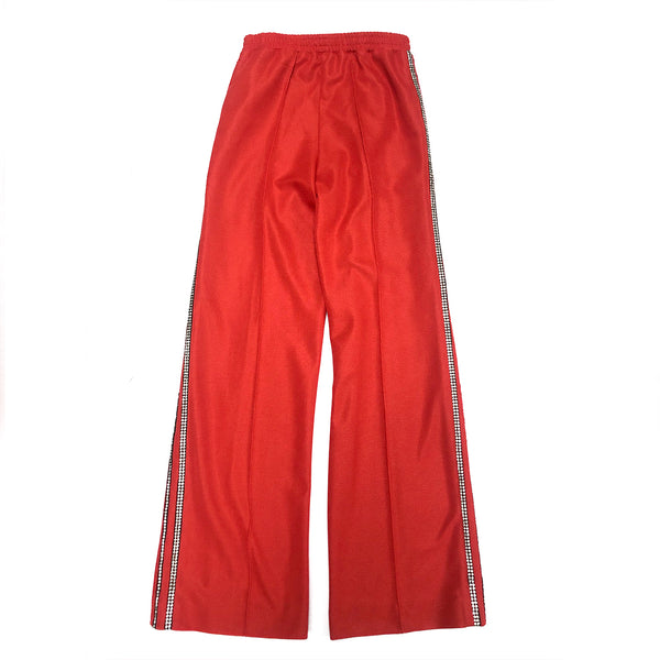 AREA red crystal-trimmed trousers | size S