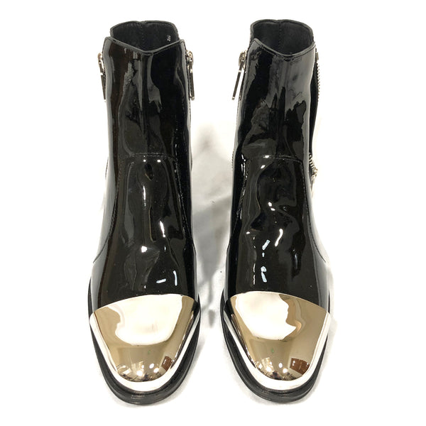 Balmain black patent leather boots