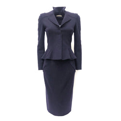 Bottega Veneta navy wool suit