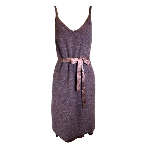 Bottega Veneta sale purple wool dress
