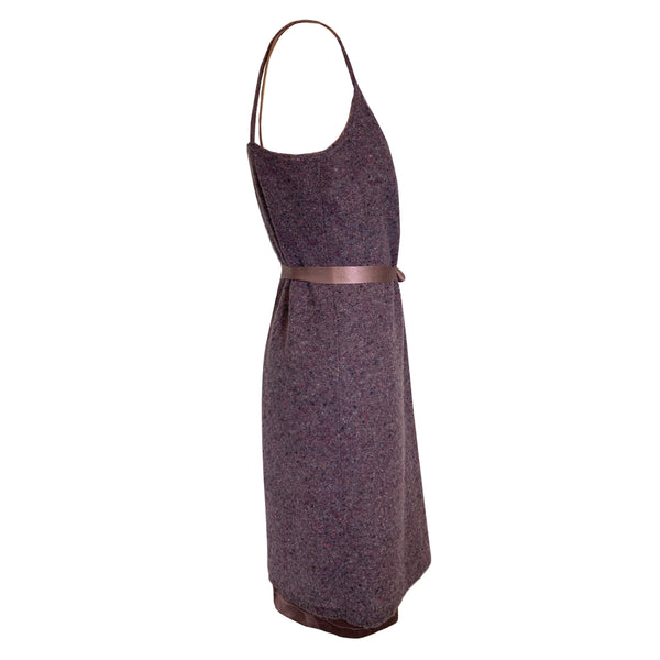 pre-loved Bottega Veneta purple wool dress