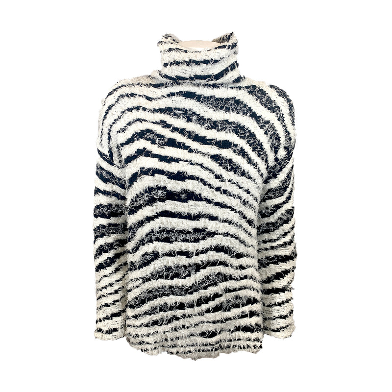 By Malene Birger black and white Dianella turtleneck sweater Loop Generation