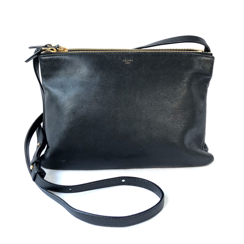 CÉLINE Trio black leather crossbody bag