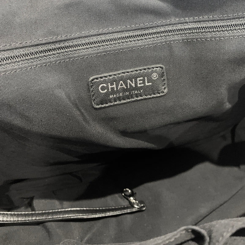 Chanel patent leather black tote