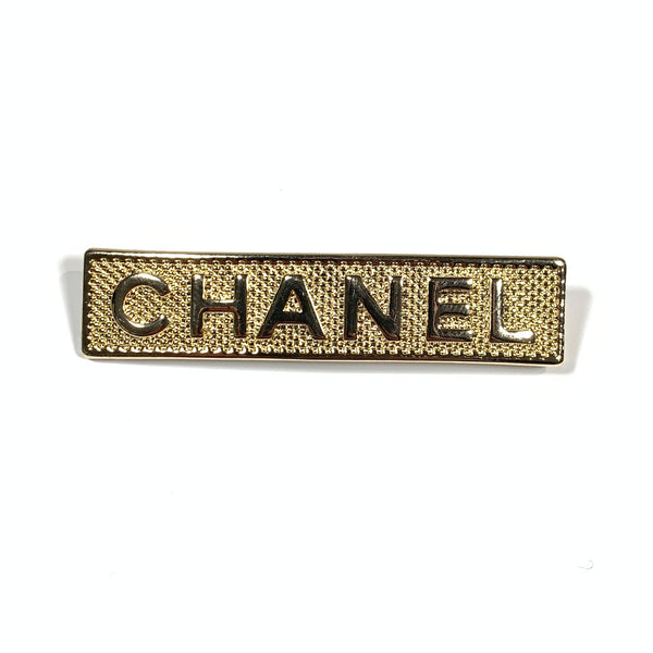 pre-loved CHANEL gold brooch