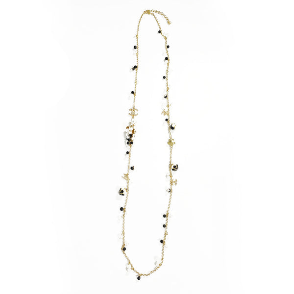 Chanel matt gold pearl necklace