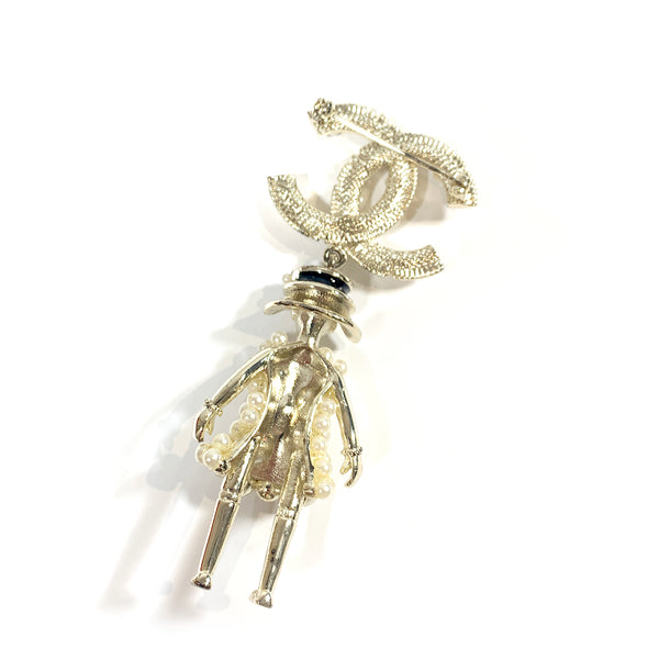 Chanel pearl doll brooch