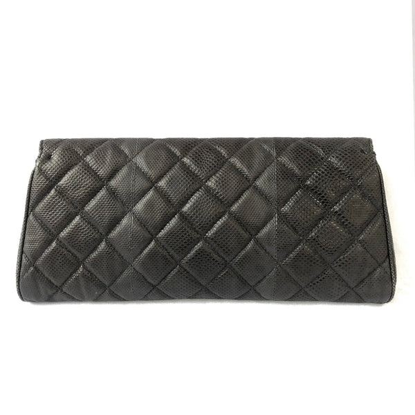 Chanel exotic leather clutch