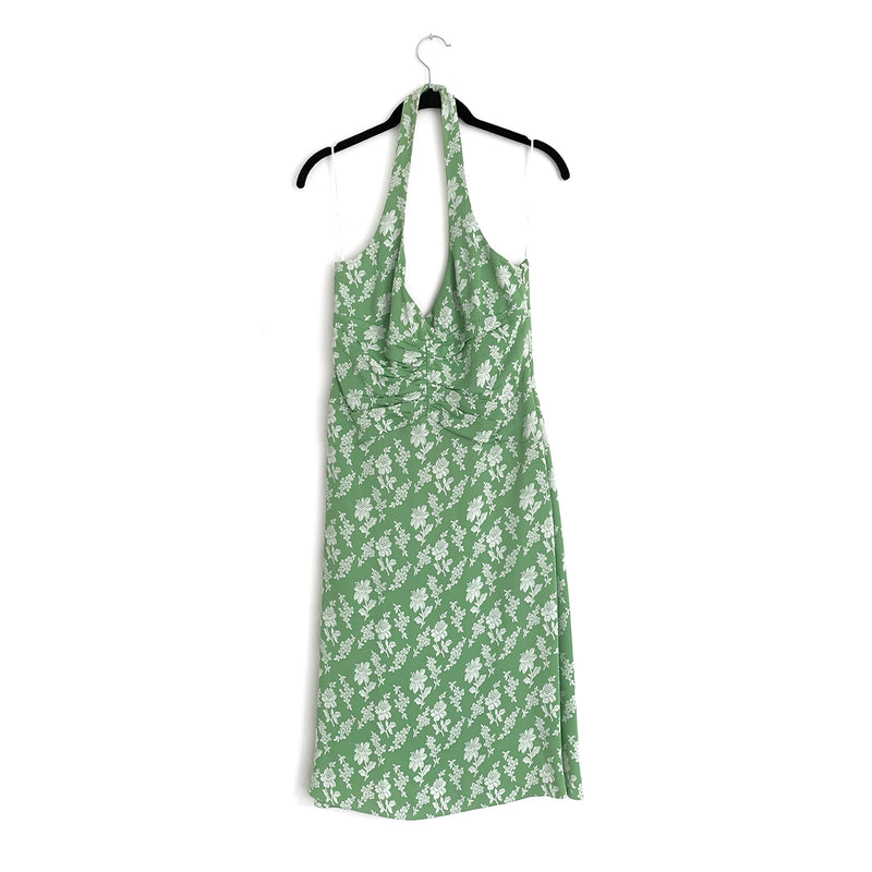 CHLOÉ green flower print dress