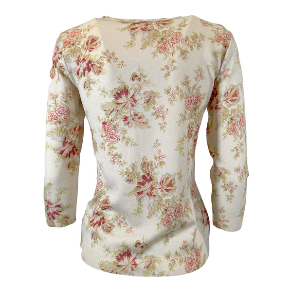 Christian Dior flower print top John Galliano