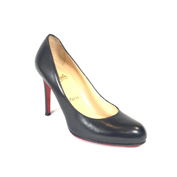 Christian Louboutin classic black leather pumps