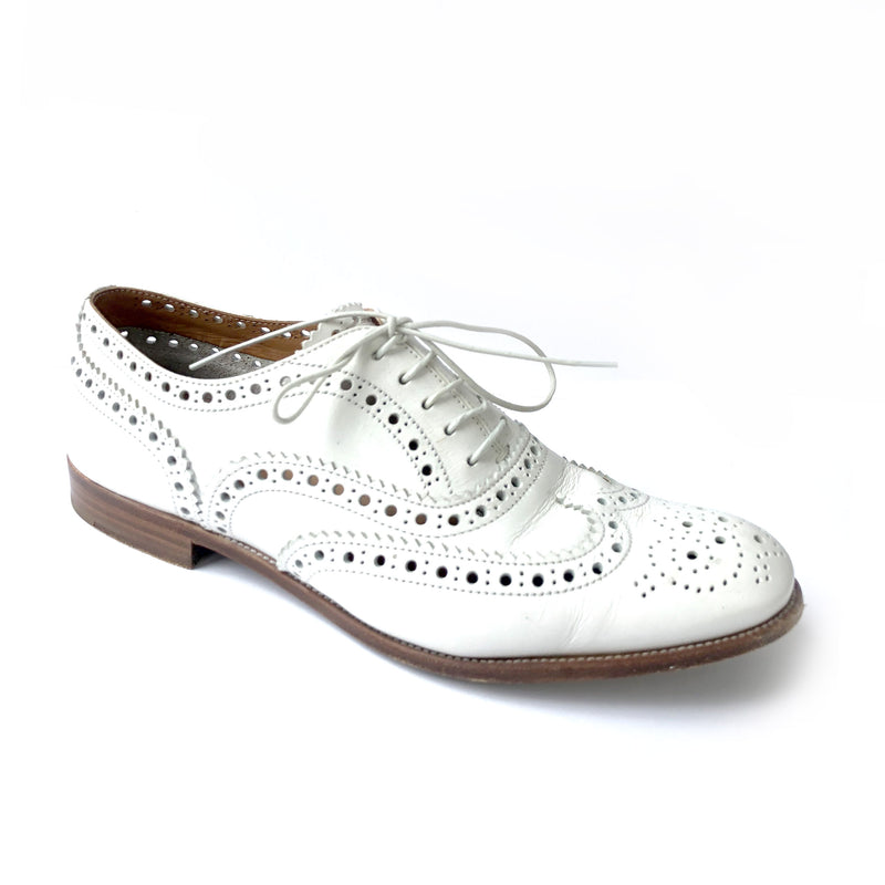 CHURCH'S Burwood off-white leather lace up shoes