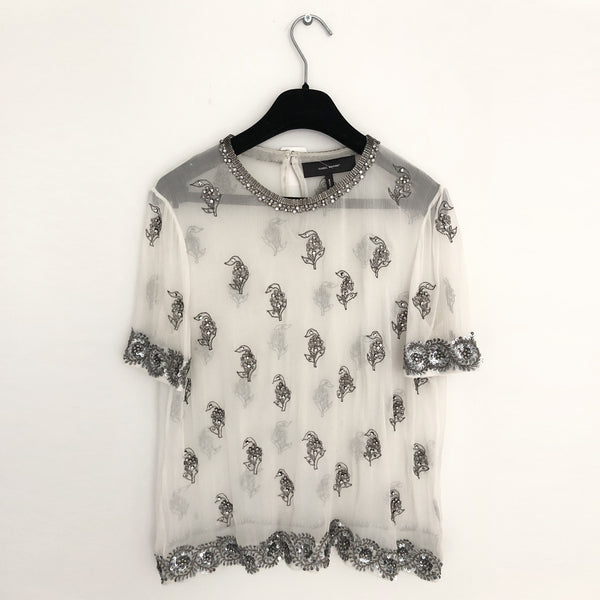 ISABEL MARANT sheer embellished  top