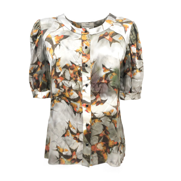 Loop generation Erdem multicolour print blouse